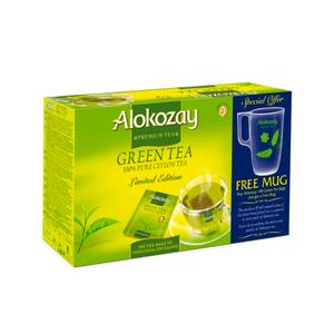 Alokozay Green Tea 100 TB With Mug 200g