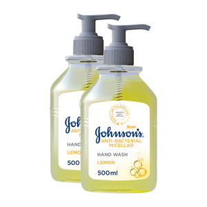 Johnson's Anti Bacterial Lemon Handwash 2x500ml