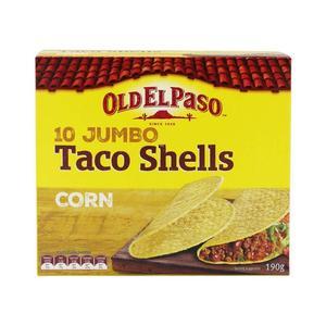 Old El Paso 10 Jumbo Taco Shells 190g
