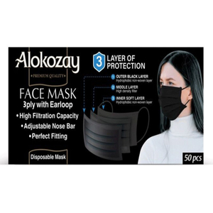 Alokozay Black Face Mask 3x50s