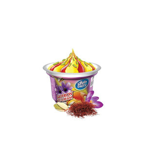 Daity Saffron Ice Cream Decorated 100g