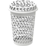 Cosmoplast Laundry Basket Tall With Lid 1pc