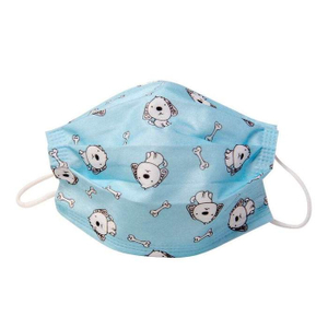 Protective Printed Blue Kids Face Mask 50s