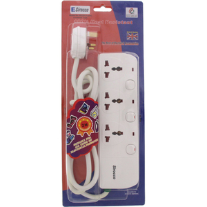 Sirocco Extension Socket 3 Way With Switch 1pc