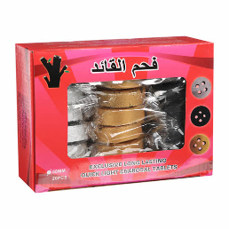 Al Qaed Round Charcoal Tablets Assorted 20s