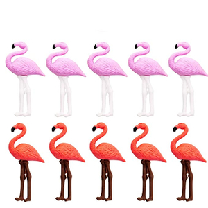 Flamingo Plastic Eraser Gold 1pc