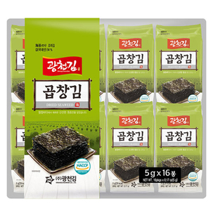kwangcheonkim Gobchang Dosirak Seasoned Seaweed 5gx16