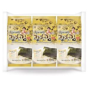 kwangcheonkim Master Kim Dosirak Seasoned Jaerae Seaweed 4gx3