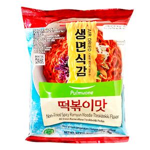 Pulmuone Non-Fried Spicy Ramyun Tteokbokki Flavor Halal 96g