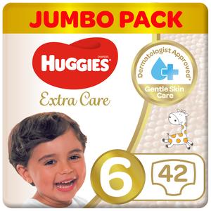 Huggies Extra Care Jumbo Pack Size 6 15+ kg 42pcs