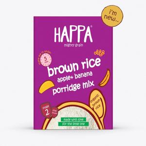 Happa Organic Brown Rice Apple & Banana Porridge Mix 200g