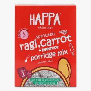 Happa Organic Sprouted Ragi Carrot & Beetroot Porridge Mix 200g