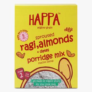 Happa Organic Sprouted Ragi Almonds & Dates Porridge Mix 200g