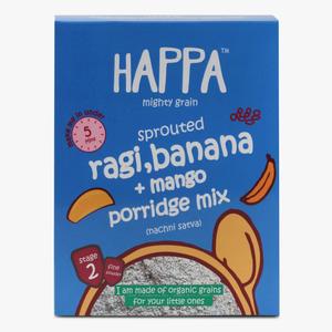 Happa Organic Sprouted Ragi Mango & Banana Porridge Mix 200g