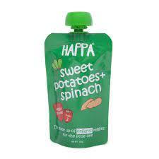 Happa Organic Spinach & Sweet Potato Fruit Puree 100g