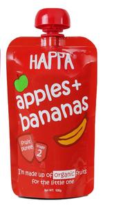 Happa Organic Apple & Banana Fruit Puree 100g