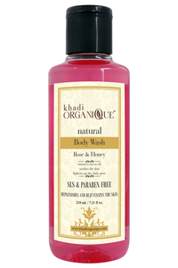 Khadi Organique Rose & Honey Body Wash 210ml
