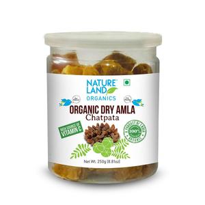 Nature Land Organics Amla Candy Chatpat 250g