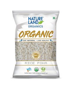 Nature Land Organics Rice Poha 500g