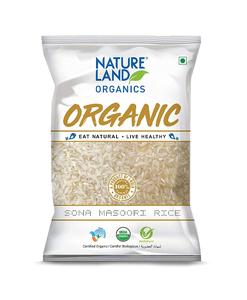 Nature Land Organics Sona Masoori Rice 1kg