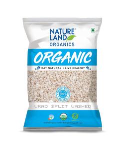 Nature Land Organics Urad Split Washed 500g