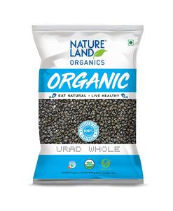 Nature Land Organics Urad Whole 500g