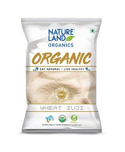 Nature Land Organics Wheat Suji 500g