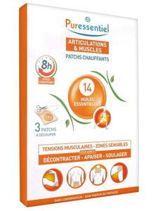 Puressentiel Muscles And Joints Heating Patches With 14 Essential Oils 3patches