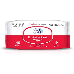 Cool & Cool Disinfectant Anti-Bacterial Wipes 84s