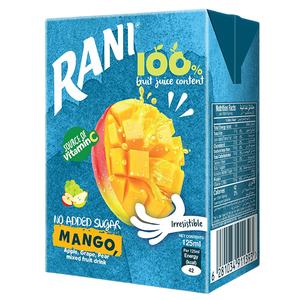 Rani Mango Mix Fruit Drink No Sugar 125ml