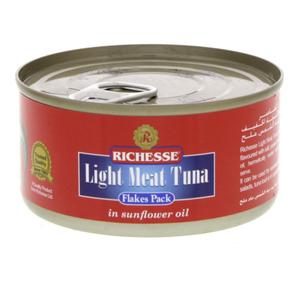 Richesse Light Meat Tuna Flake Sunflower Oil 185g