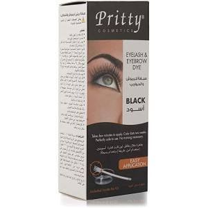 Pritty Eyelash & Eyebrow Dye Kit Black 1s