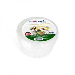Hotpack Microwave Round Container 250m; 1pack