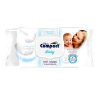 Ultra Compact Baby Wet Wipes Cream 72s