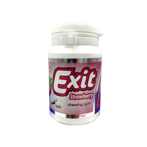Exit Chewing Gum Strawberry Sugar Free Bottle 50g