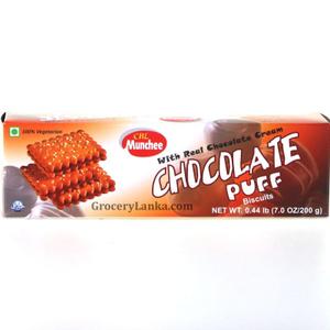 Munchee Chocolate Puff Biscuits 200g