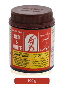 Red & White Lemon Yellow Color 100g