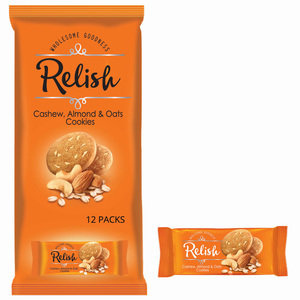 Relish Cookies Cashew Almond And Oat 42g