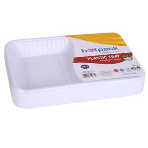 Hotpack Plastic Rectangular Tray No.2 1kg