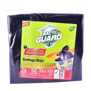 Bacti Guard Bio - Degredable Garbage Bag Black 90x110cm 1roll