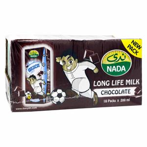 Nada Danyah Chocolate Uht Milk 18x200ml