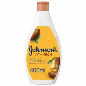 Johnson's Body Wash Cocoa Butter 400ml+250ml