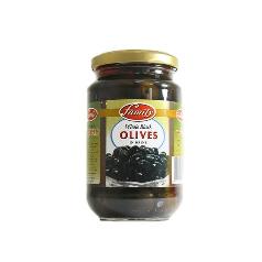 Family Whole Black Olives 575g