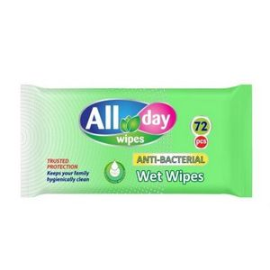 All Day Antibacterial Wipes 72s