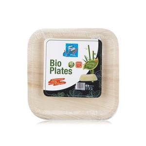 Fun Bio Plates Square 8 Inch 1pack