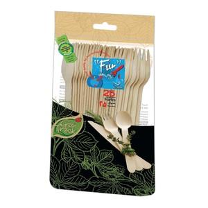 Fun Wooden Fork 25pcs