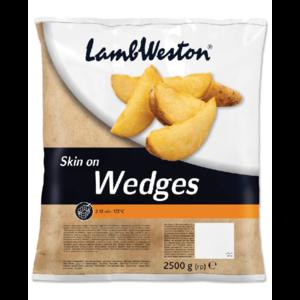 Lamb Weston Seasoned Skinon Wedges 2.5kg