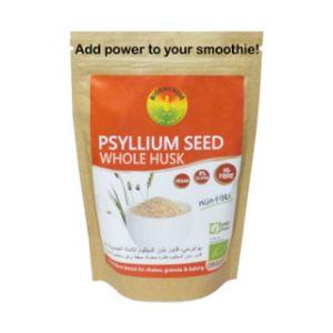 Bioenergie Organic Whole Psyllium Seed Husk Vegan Gluten Free Gmo Free 100g
