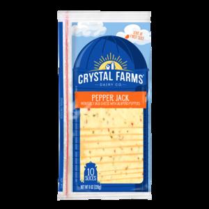 Crystal Farms Sliced Pepper Jack Cheese 8oz