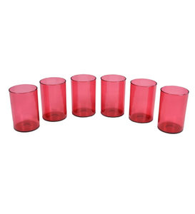Sunny Crystal Red Plastic Glass 25s
